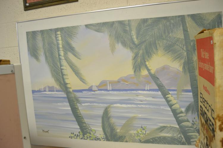 Wishart Signed Oil On Canvas Seascape Painting