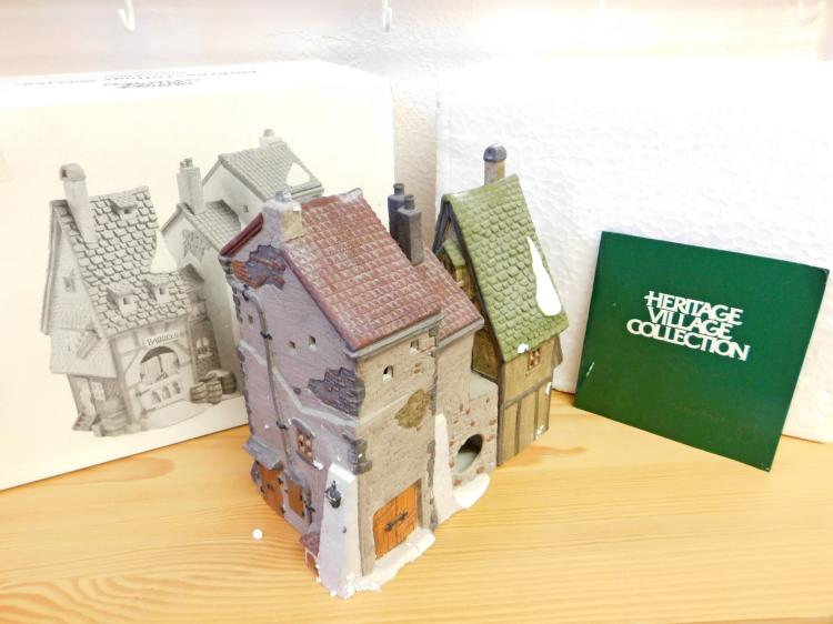 Lot 24: Dickens Village Oliver Twist Fagins Hideaway Hand-Painted Porcelain Figurine