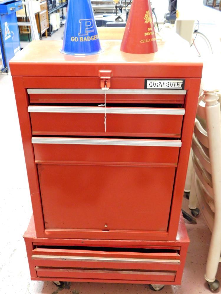 Durabuilt 2 Tier Metal Rolling Tool Cabinet