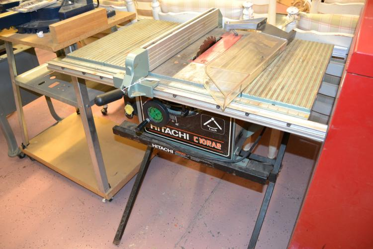 Hitachi C10Ra2 10 Inch Table Saw With Folding Metal Stand