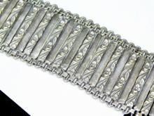 Lot 7: Vintage 64G Sterling Art Deco Flower Bar Panel