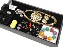 Lot 11: Vintage Costume Jewelry Lot Including Multi Stone