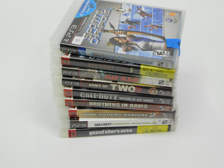 Lot Of 9 Ps3 PlayStation Games Including Resident