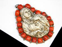 Lot 18: 167 Gram Huge 6 Inch Religious Madonna Sterling