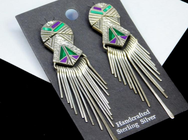 20 Gram Sterling Southwestern Green And Purple