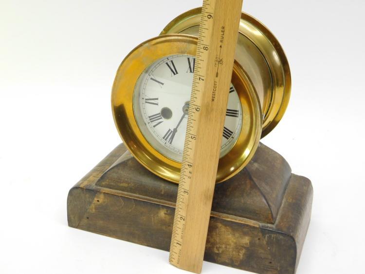 Lot 40: Antique Waterbury Clock Company Ships Clock On