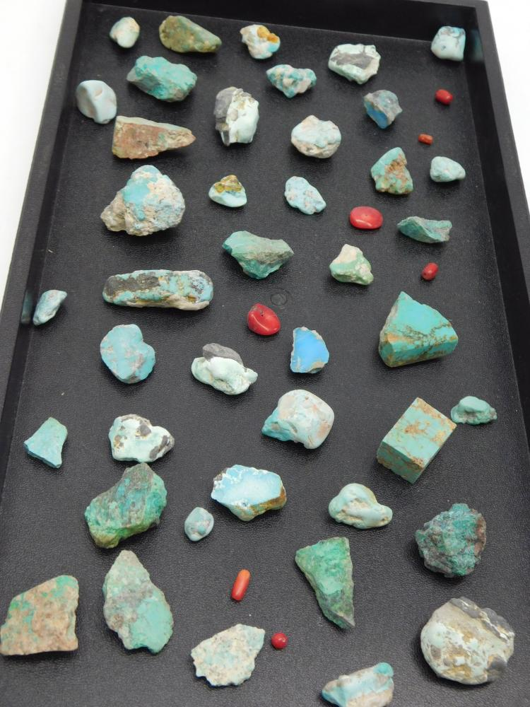 Large Mixed Lot Of Rough Turquoise Nuggets And