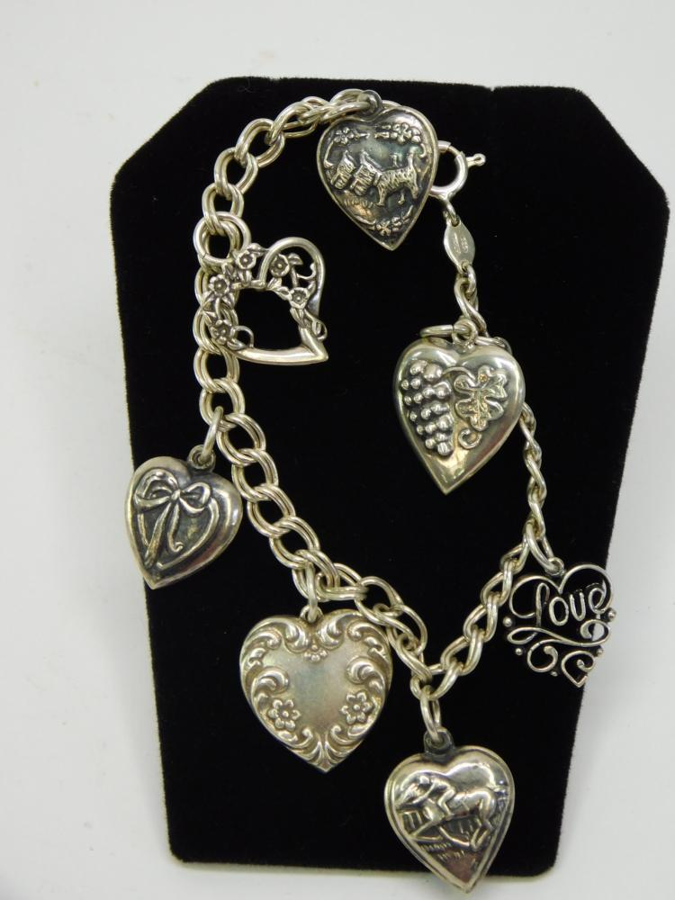 Vintage 16 Gram Decorated Puffy Heart Charm