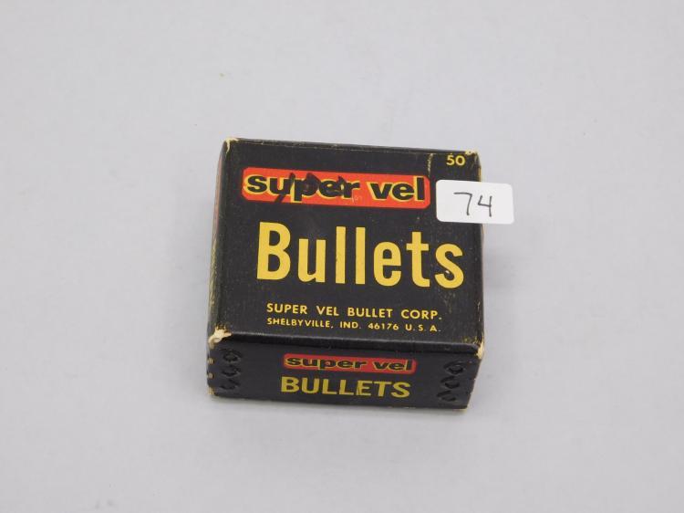 Lot 74: Vintage Super Vel Bullets 38 Caliber 3565 Inch