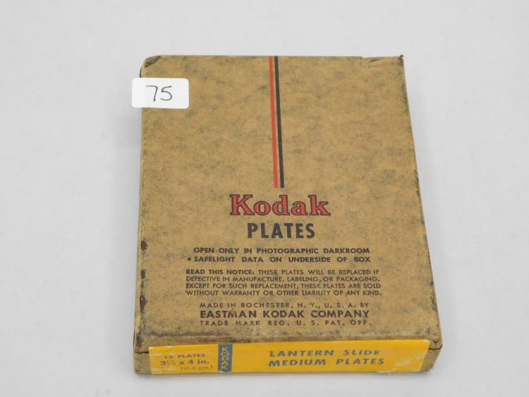 Antique Eastman Kodak Lantern Slide Medium Plates