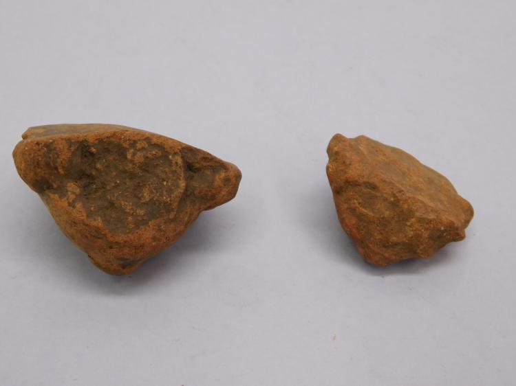 Lot 77: 2 Genuine Pre-Columbian Pottery Heads In Good As