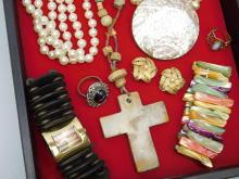 Lot 95: Vintage Costume Jewelry Lot Including Pearl