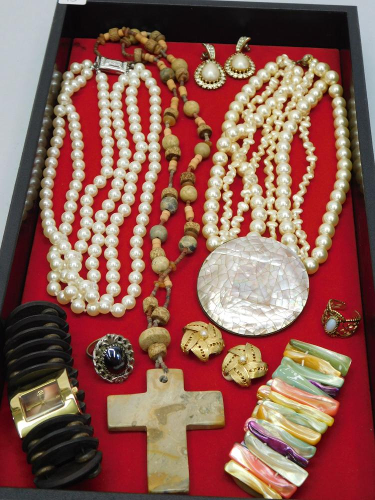 Vintage Costume Jewelry Lot Including Pearl