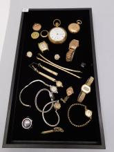 Lot 99: Antique And Vintage Pocket Watch And Wrist Watch