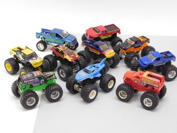 Lot Of 12 Hot Wheels Monster Truck 1/64 Scale