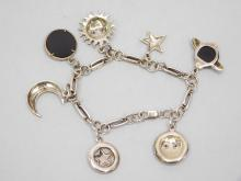 Lot 122: Vintage Sterling Silver Onyx Ruby And Marcasite