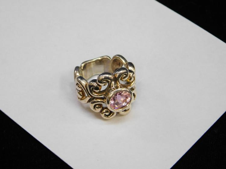 Lot 137: Modern Barse Sterling Silver And Pink Cz Fancy
