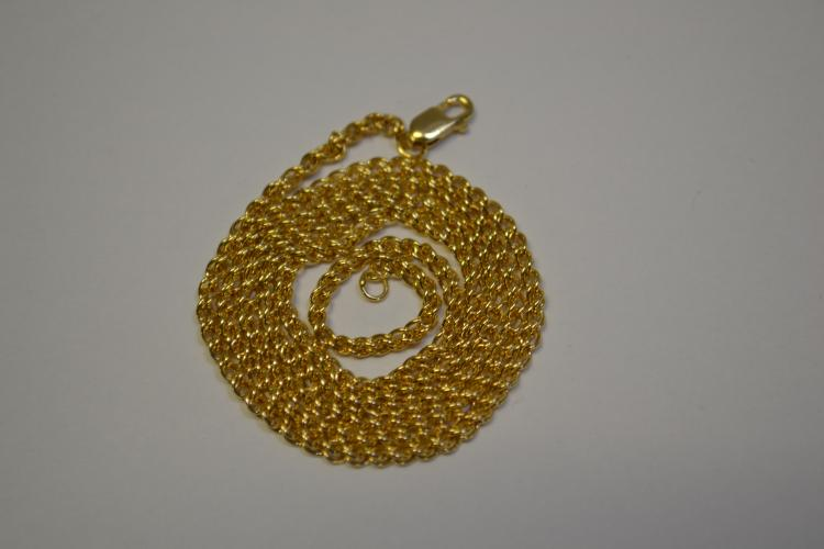 "New 14 Karat Gold 18"" Chain Necklace 4.7 Grams"