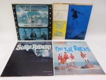 Lot Of 4 Vintage Surfer Vinyl Lp Record Albums Including Two Signed By Bud Shank