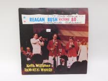Keith Williams Signed Immortal Winners Reagan Bush Victory 1980 Vinyl Lp Record Album