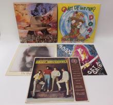 Lot Of 5 Vintage Lp Record Albums Including Sealed Roger Voudouris And Devo
