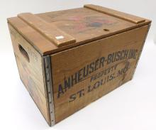 1976 Budweiser Anheuser-Busch Commemorative Lidded Beer Crate