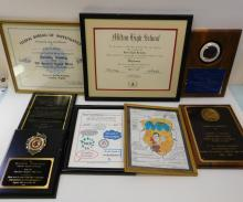 Lot Of Award Plaques Presented To Weldon Kennedy Former Deputy Director Of The Fbi Including Custom Service And Atf