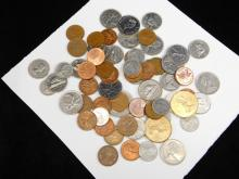 Lot Of Assorted Canadian And Foreign Coins