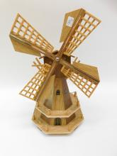 Windup Wooden Musical Windmill Made In Holland