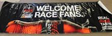 Nascar Coca-Cola Zero Welcome Race Fans Banner