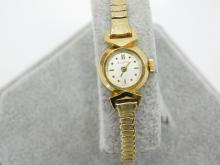 Lot 59: Vintage Bulova 14K Gold Case Ladies Wind Up Watch 12.3G