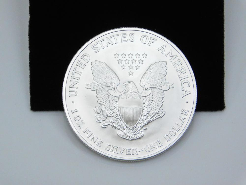 Lot 136: 2005 United States Mint American Eagle 999 Fine Silver 1 Oz Dollar Bullion
