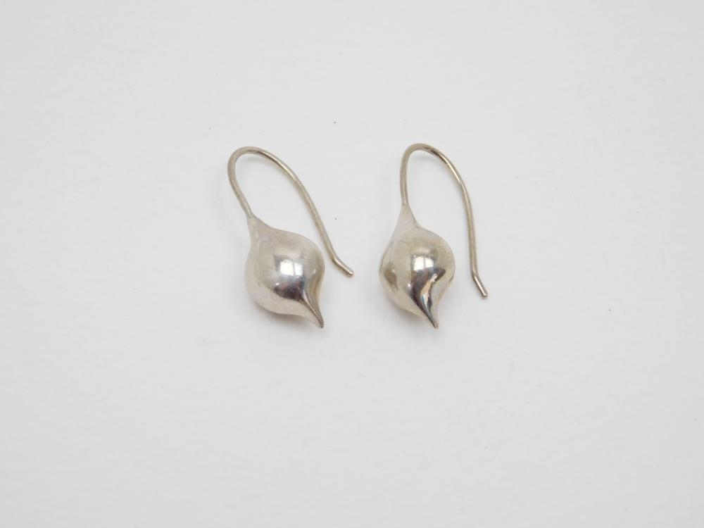 Thailand Sterling Silver Michael Dawkins Teardrop Dangle Earrings 5G