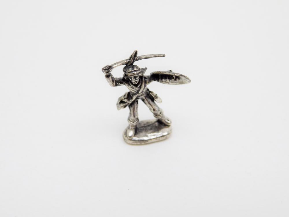 Miniature Sterling Silver Indian Warrior Figurine 4.6G