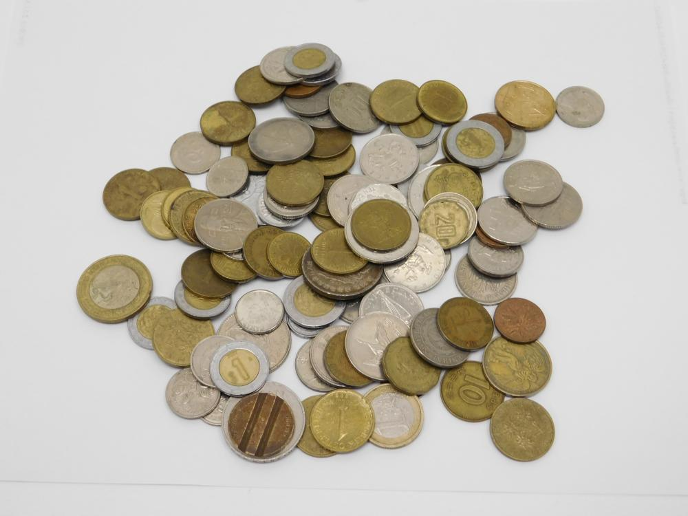 Vintage Mixed Foreign Coin & Token Lot