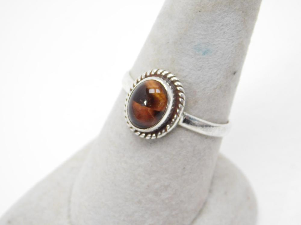 Sterling Silver Rootbeer Tigers Eye Ring 3.5G Sz10