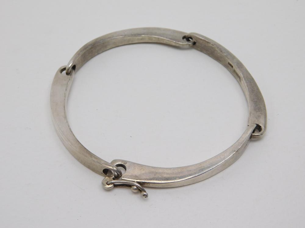 Studio Scandinavian Gunn Trigere Mens Sterling Silver Modernist Bracelet 44.9G