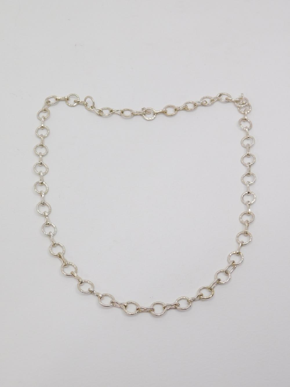 Speak! 999 Fine Silver Heavy Round Link Necklace 50G