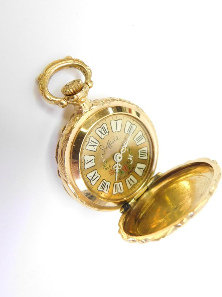Vintage Sheffield Swiss Made Ladies Decorative  Wind Up Pocket Watch