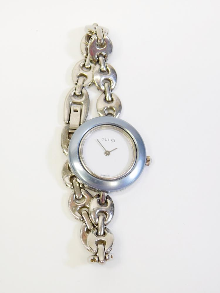 Ladies Pre-Owned Gucci Swiss Made Anchor Link Wrist Watch