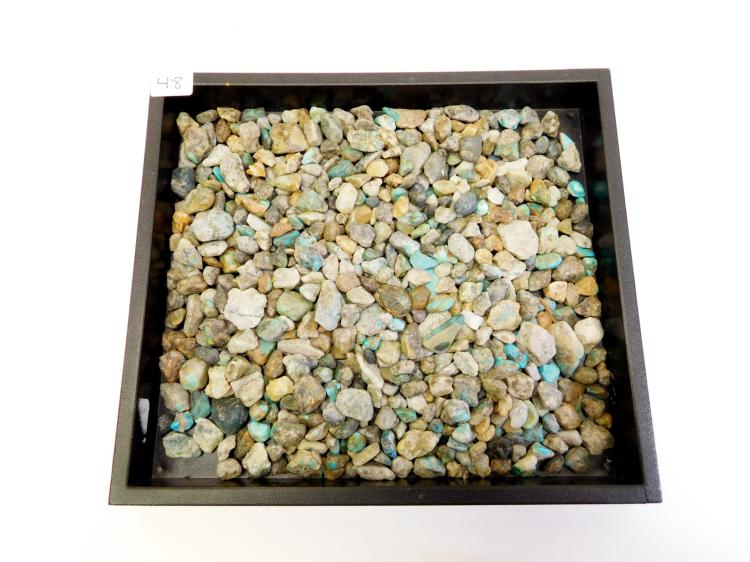 One Pound Of Arizona Turquoise In Matrix Nuggets And Pebbles