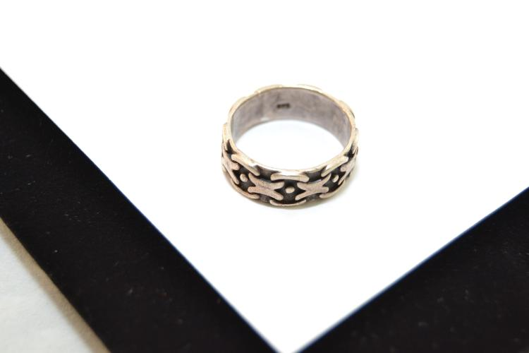 Vintage Sterling Silver Men'S Ring Size 10 6.9 Grams