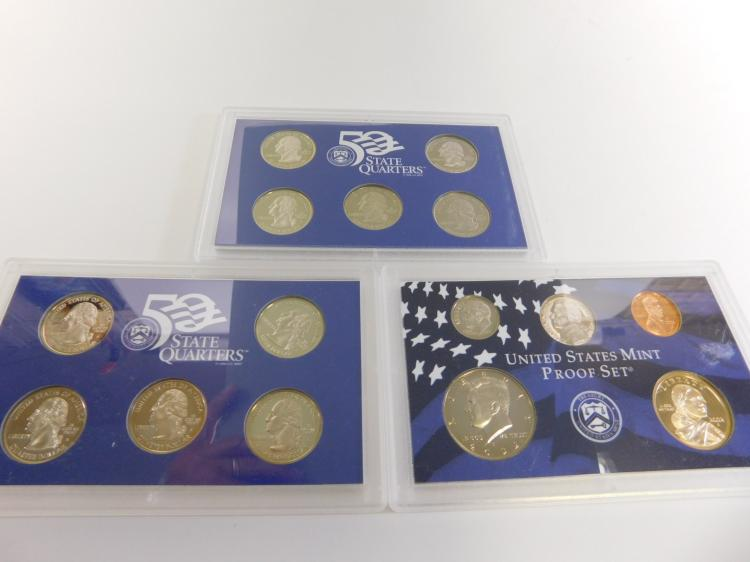 2000 And 2002 United States Mint Proof Sets
