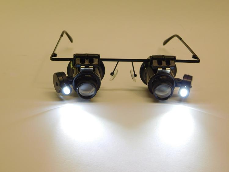 Pair Of Lighted Jewelers Glasses