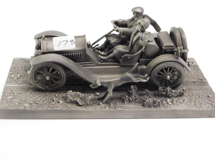 Franklin Mint The Stutz Bearcat  Fine Pewter Figurine By Lionell Forrest.