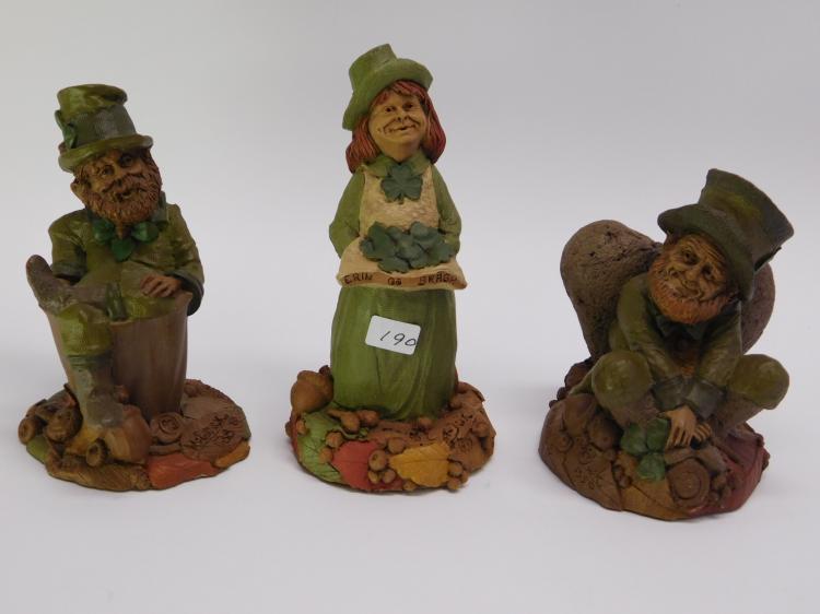 Lot Of Three Tom Clark Cast Resin Gnome Figurines.