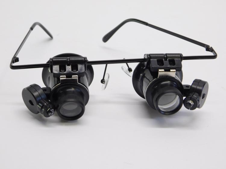New Pair Of Lighted Magnifying Glasses 4 Hobbies Or Jewelry Making