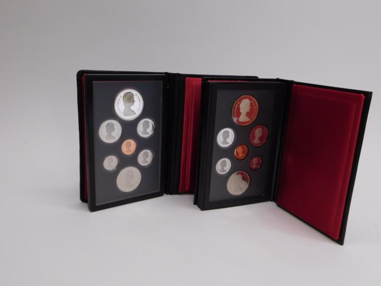 2 1981 & 1987 Canadian Mint Double Dollar Silver Proof Sets