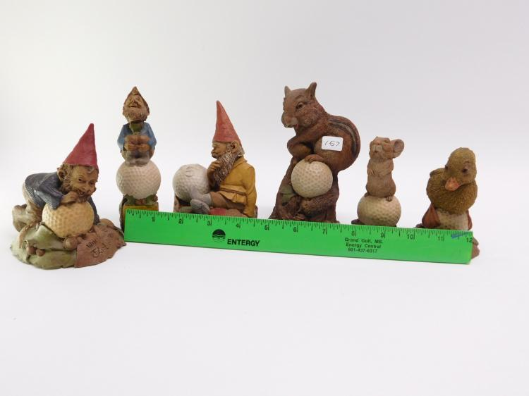 Lot Of Six Tom Clark Cast Resin Gnome Figurines.