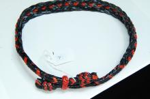 Lot 7: Braided Black & Red Leather Hat Band